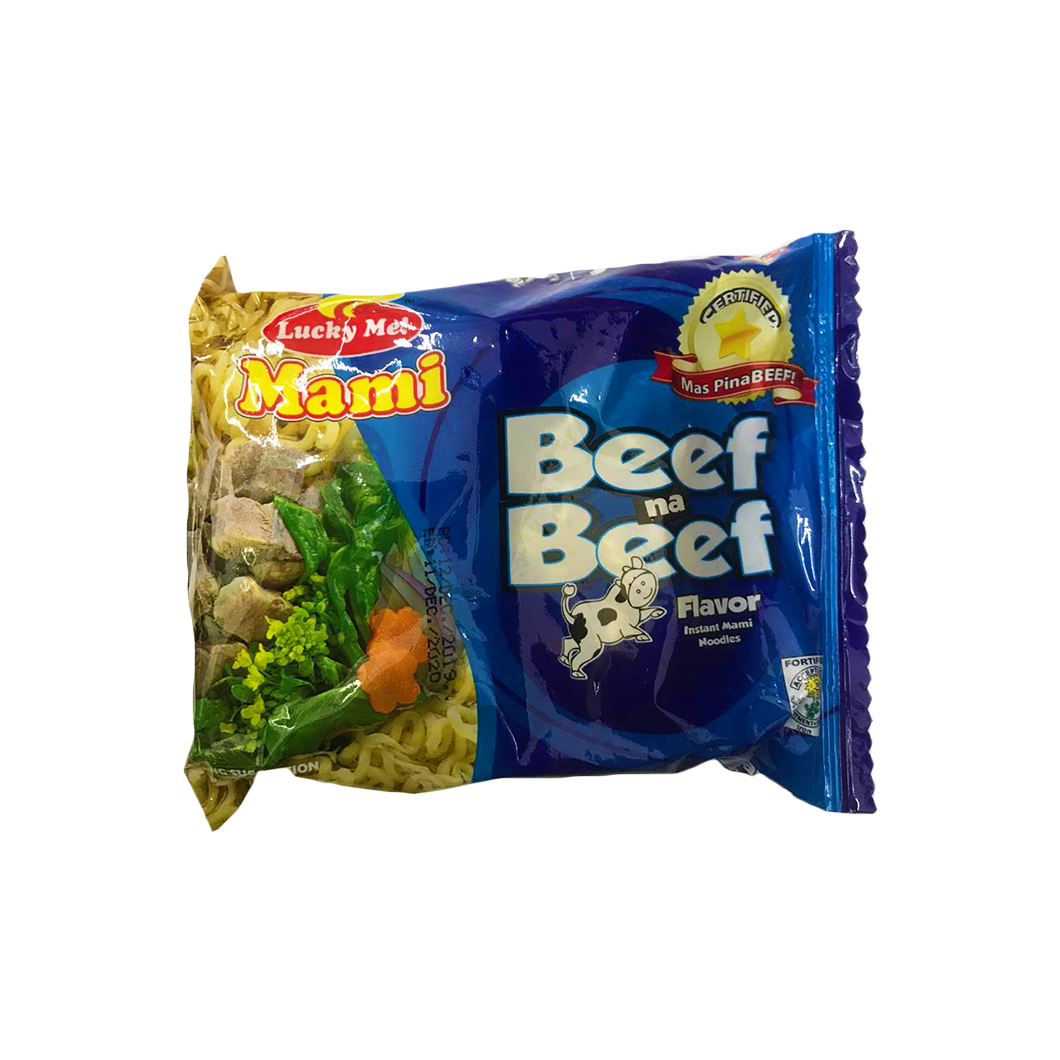 Lucky Me Instant Noodles with Artificial Beef Flavor 55g
