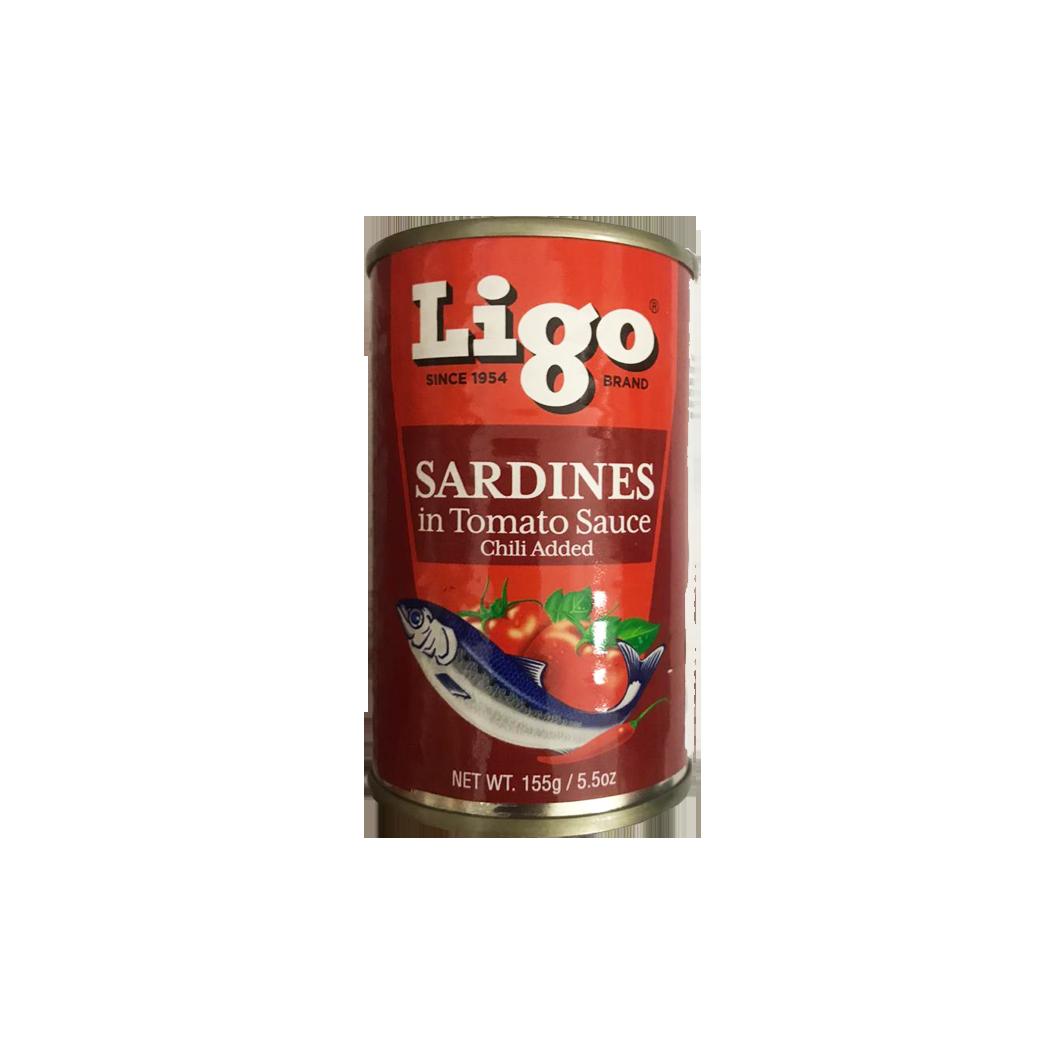Ligo Sardines in Tomato Sauce Chilli Added 155g