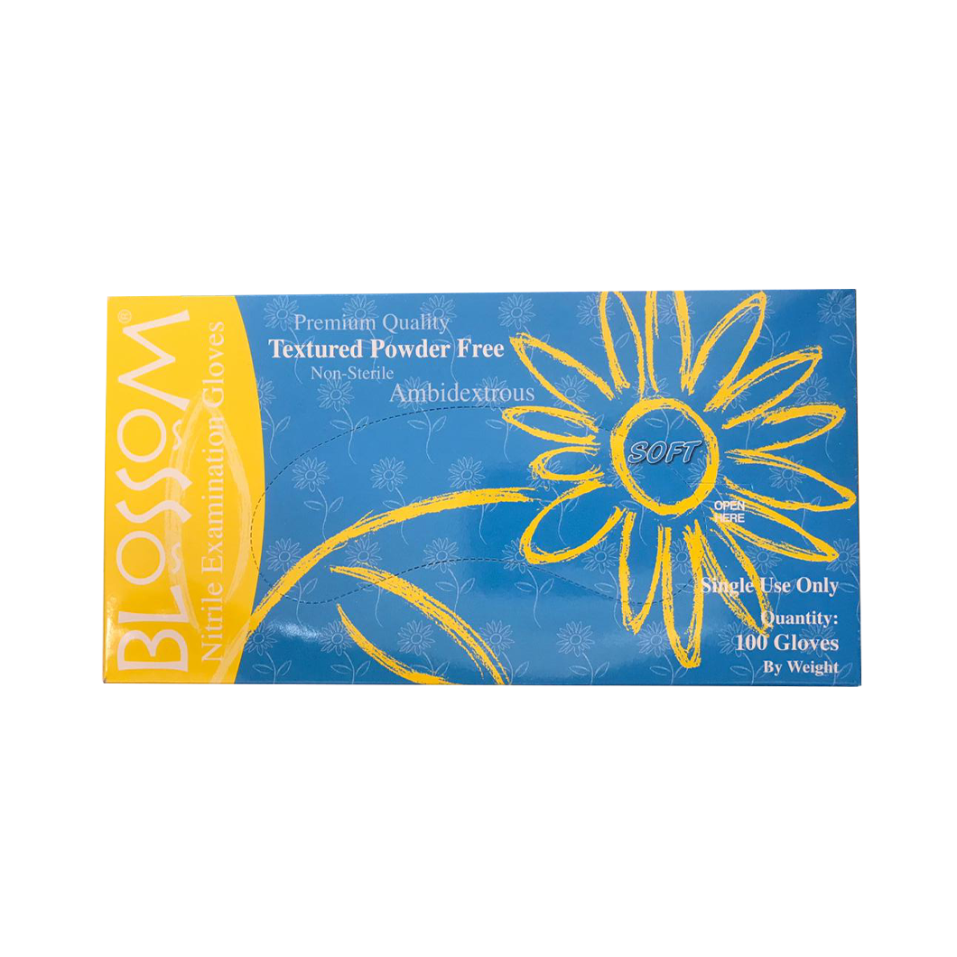 Blossoms Textured Powder Free Gloves Extra Small (100pc)