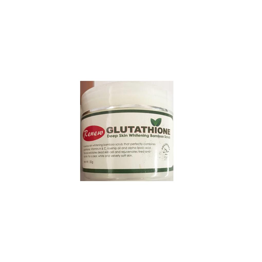 Renew Gluthathione Deep Skin WHitening Bamboo Scrub 50g