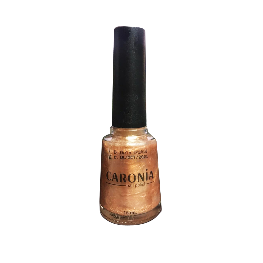Caronia Nail Polish 15ml - Golden Bronze Frosted
