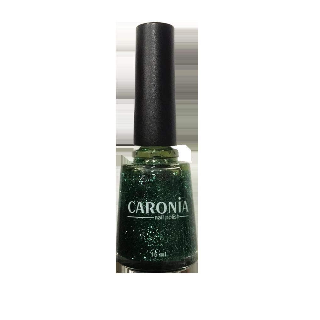 Caronia Nail Polish 15ml - Emerald Shimmer Frosted