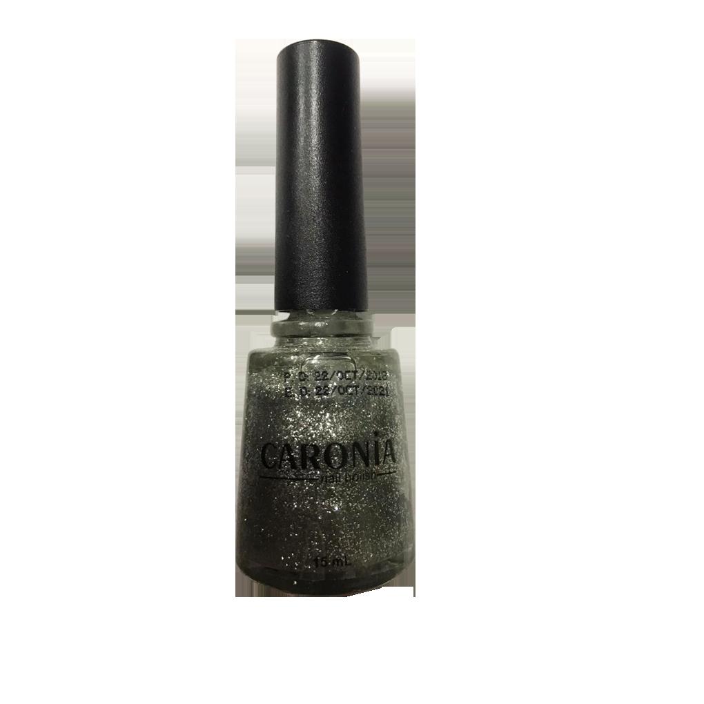 Caronia Nail Polish 15ml - Platinum Glitter Frosted