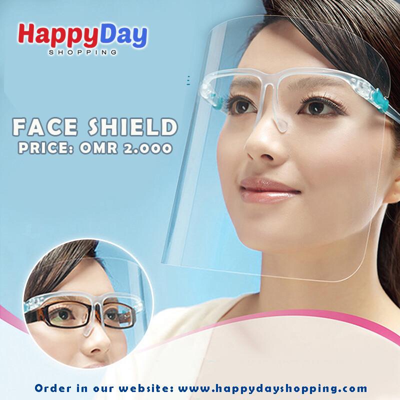 Face Shield with Eye Wear