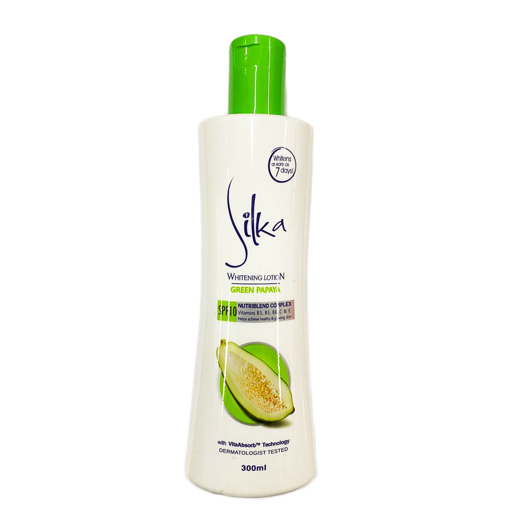 Silka Skin Whitening Green Papaya SPF10 300ml