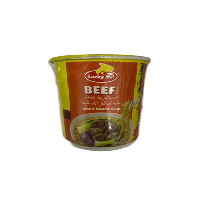 Lucky Me Beef Instant Noodle Soup Small