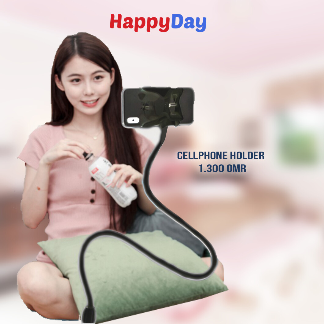 Black Phone Stand with Clip