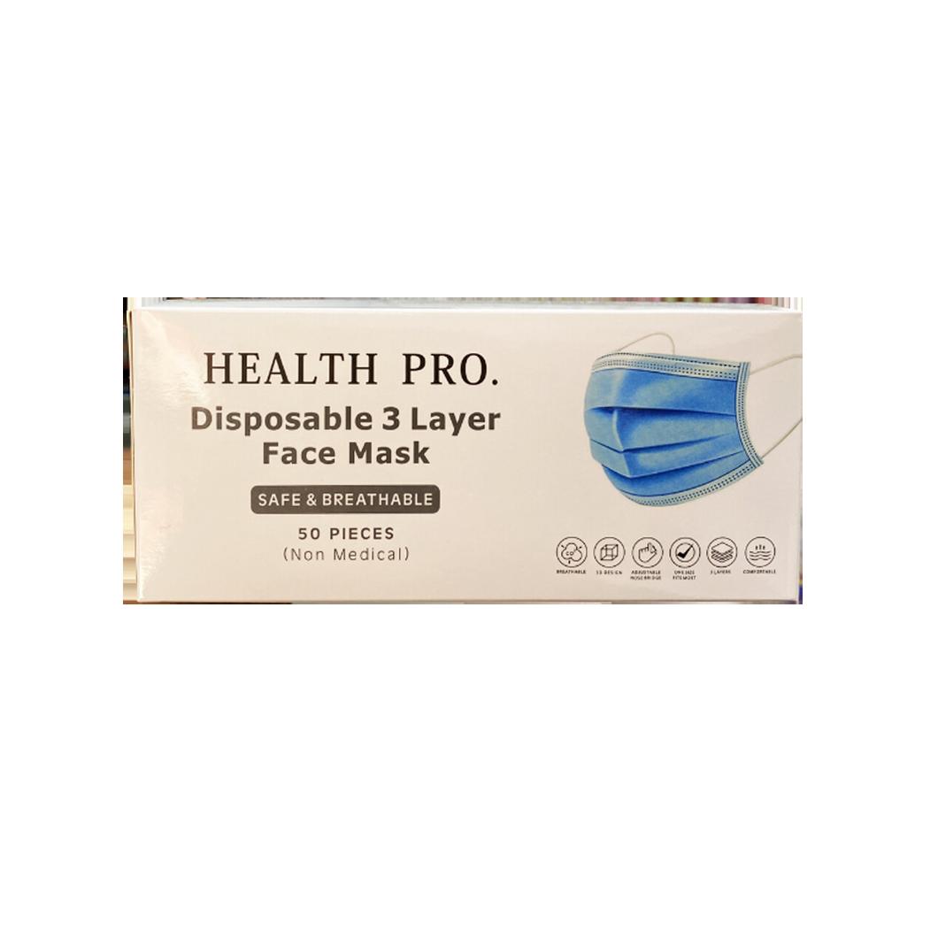 3 Ply Disposable Face Mask Ear Loop 50pcs