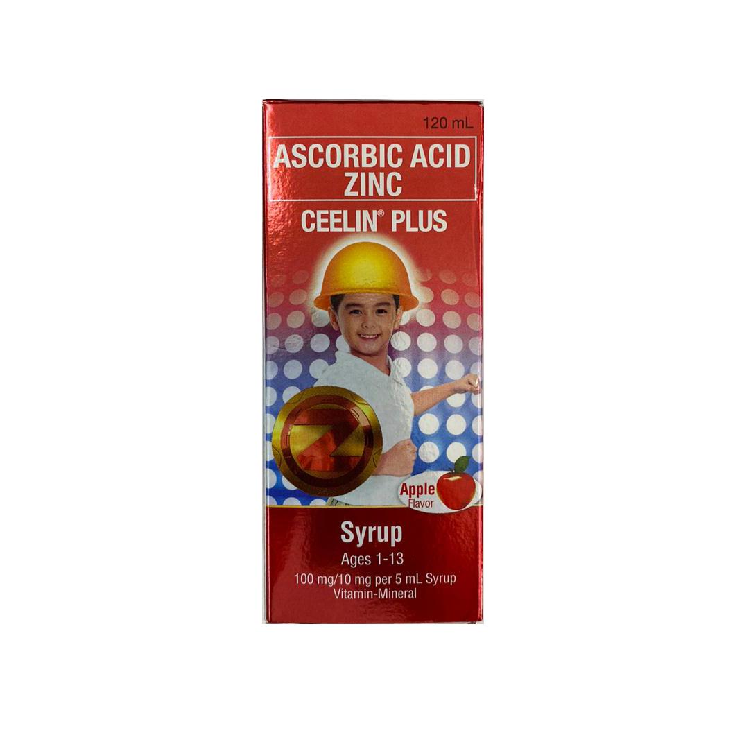 Ceelin Plus Ascorbic Acid Zinc Syrup Apple Flavor (1-13) 120ml