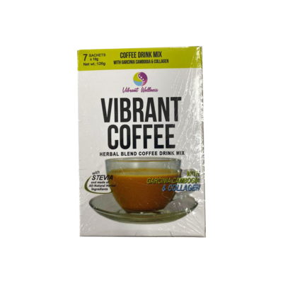 Vibrant Coffee Herbal Blend and Coffee Drink (7 Sachets)