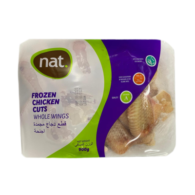 Nat Frozen Chicken Cuts Whole Wings 900g