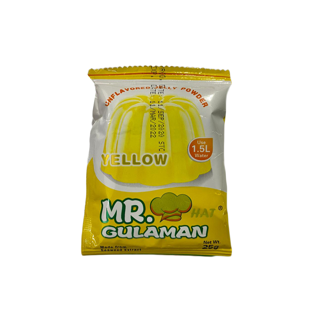Mr Gulaman Unflavored Yellow Jelly Per PC