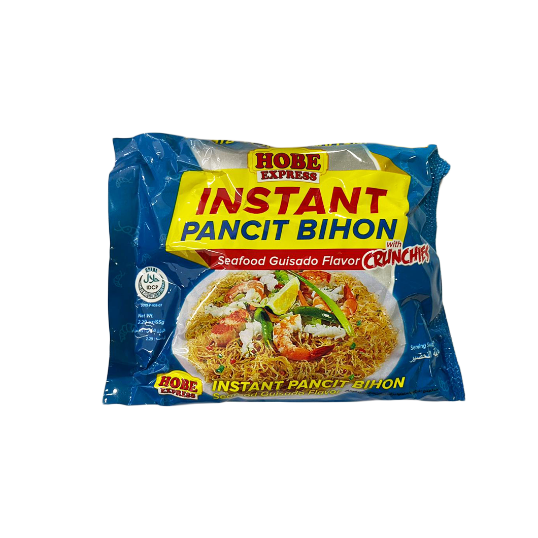 Hobe Express Instant Pancit Bihon Seafood Guisado with Crunches