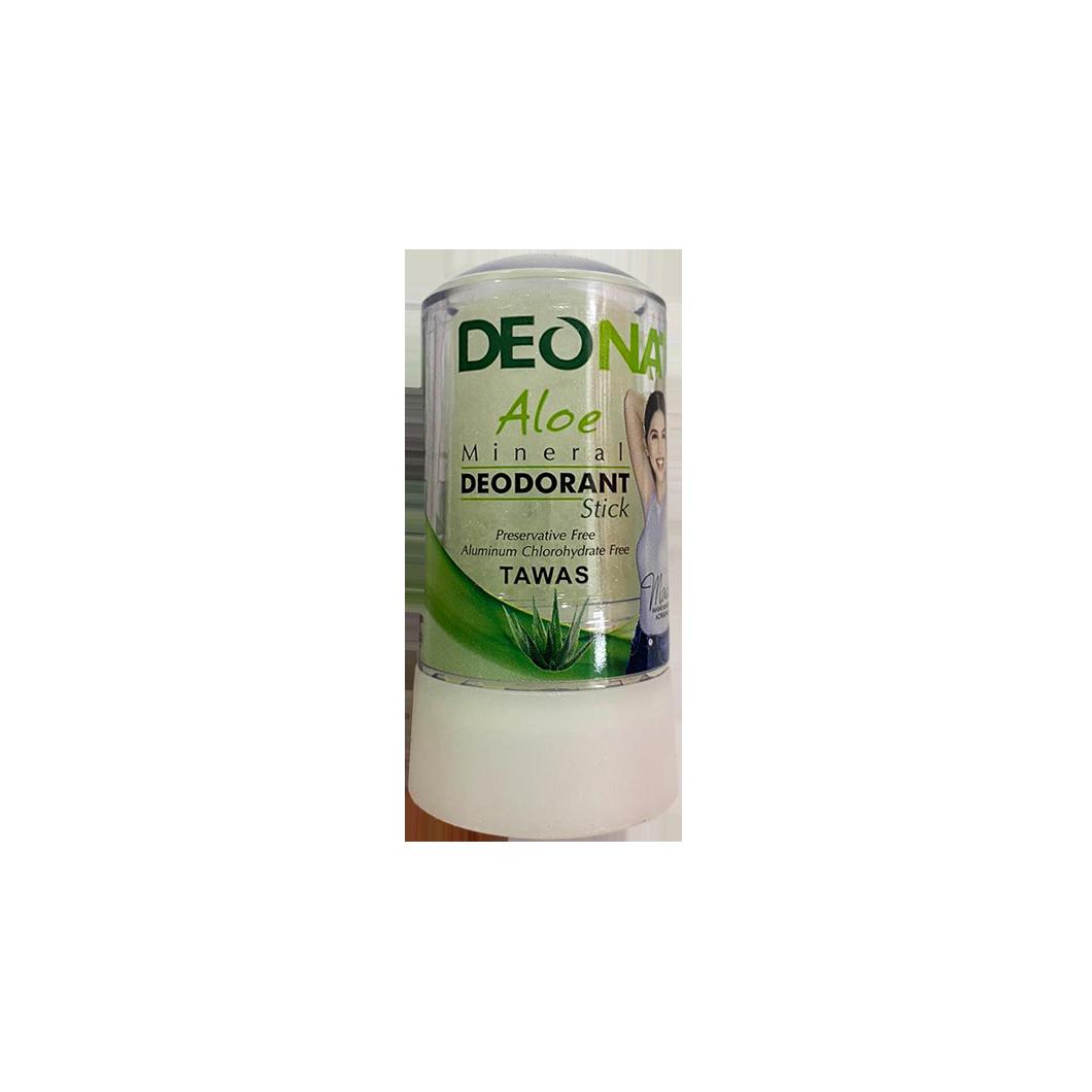 Deonat Mineral Deodorant Stick Tawas - Aloe 60g
