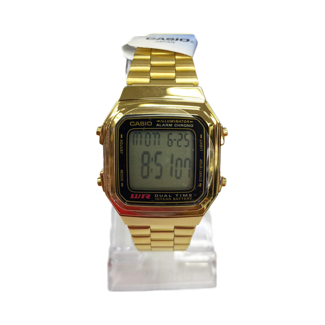 Casio Alarm Chrono Gold A159 (1 Year Warranty, Original, Water Resisitant, Battery 5 Years) 2