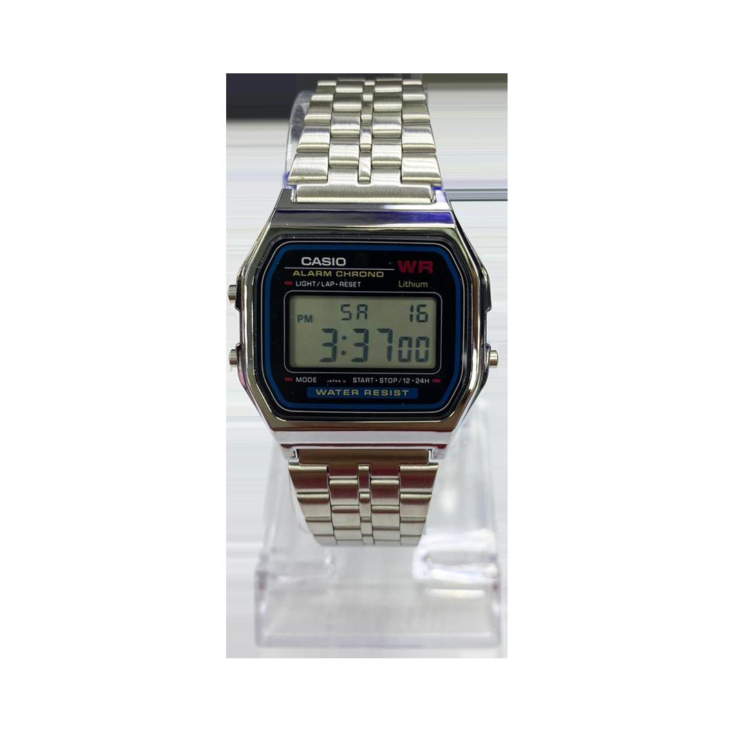 Casio Alarm Chrono Silver A159 (1 Year Warranty, Original, Water Resisitant, Battery 5 Years)