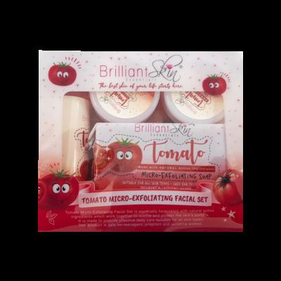Brilliant Skin - Tomato Micro-Exfoliating Facial  Set