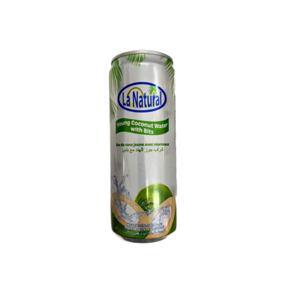 La Natural Young Coconut Water with Bits 330ml