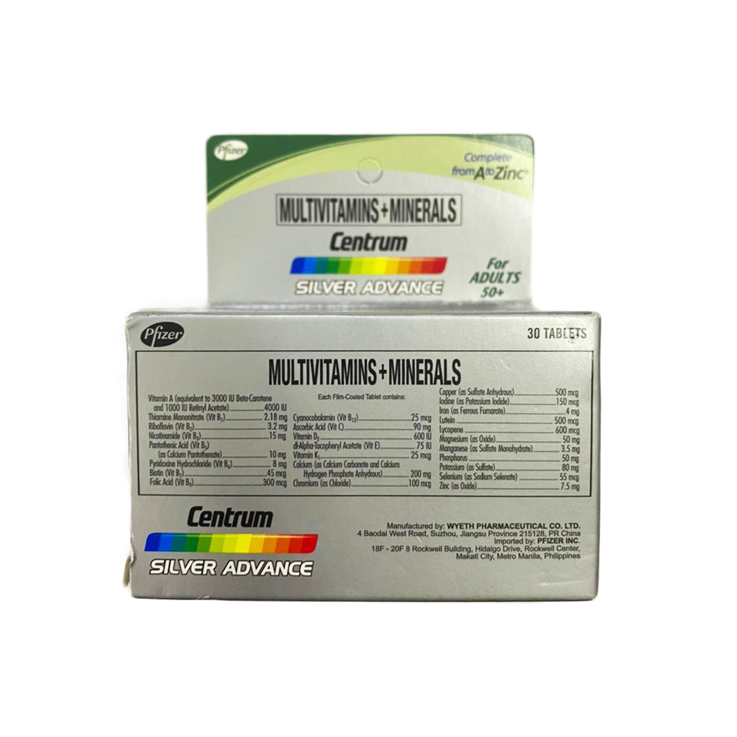 Centrum Silver Advance for Adults 50+ (30 Tablets)