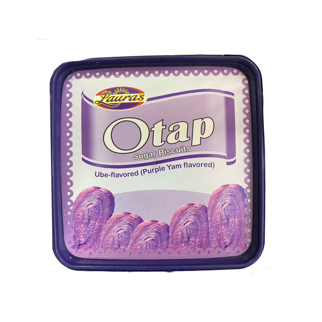 Laura's Otap Ube Flavored (Purple Yam Flavored) Sugar Biscuits (BOX)