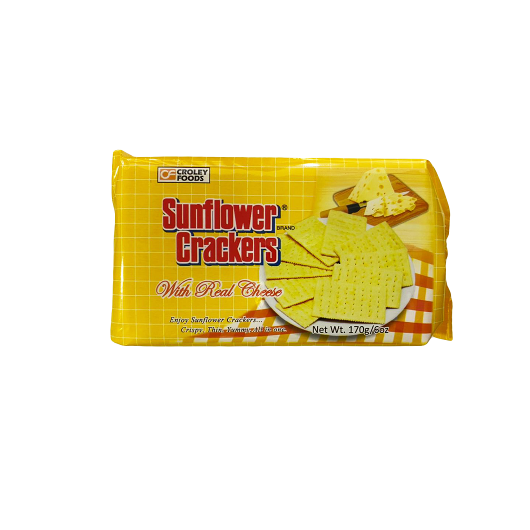 Croley Foods Sunflower Crackers Real Cheese Flavor 170g