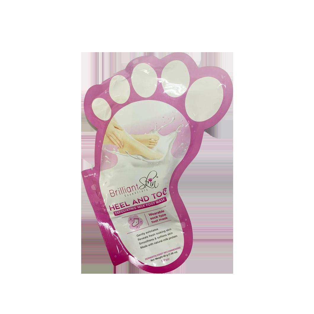 Brilliant Skin Heel & Toe Milk Foot Mask (1 Pair)