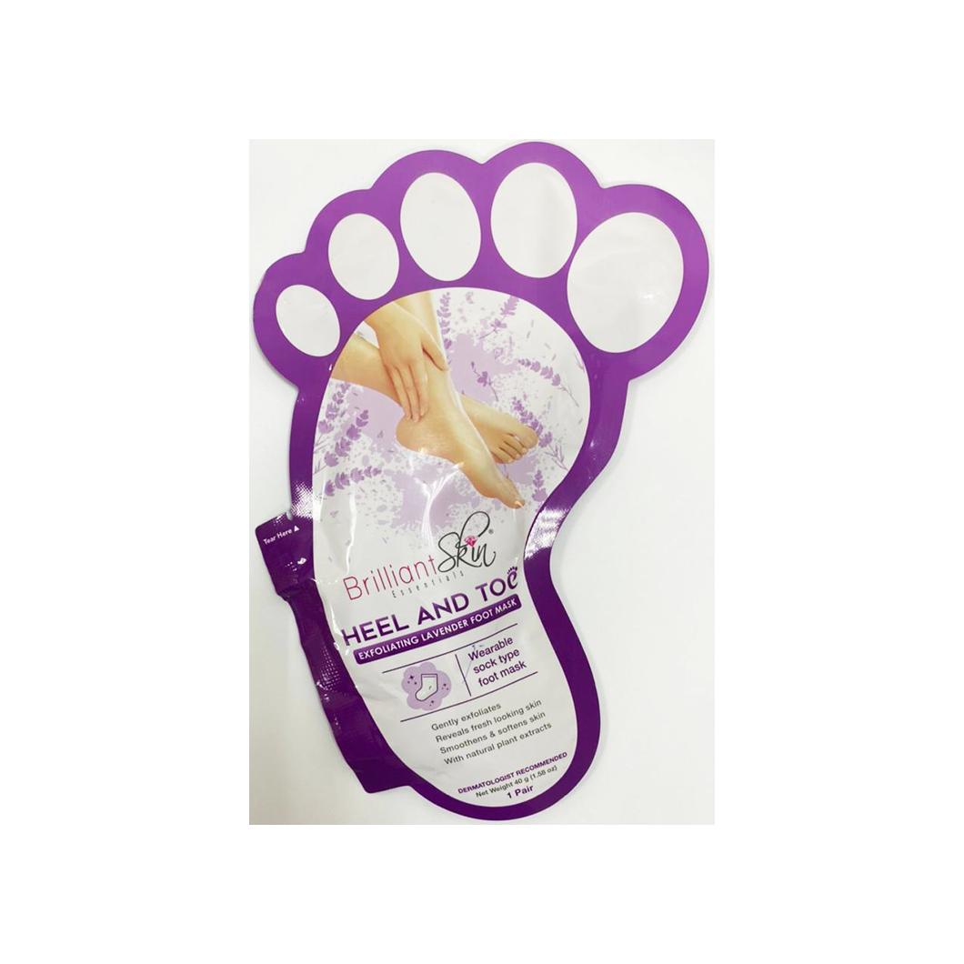 Brilliant Skin Heel & Toe Lavender Foot Mask (1 Pair)