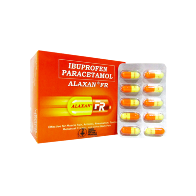 Alaxan FR 200mg/325mg (selling per capsule only)
