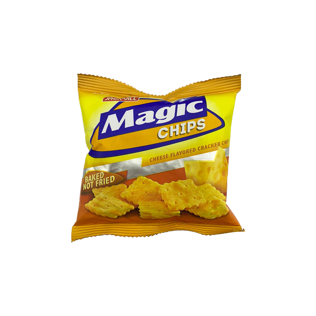 JNJ Magic Chips Cheese Cracker Chips (baked not fried) Small