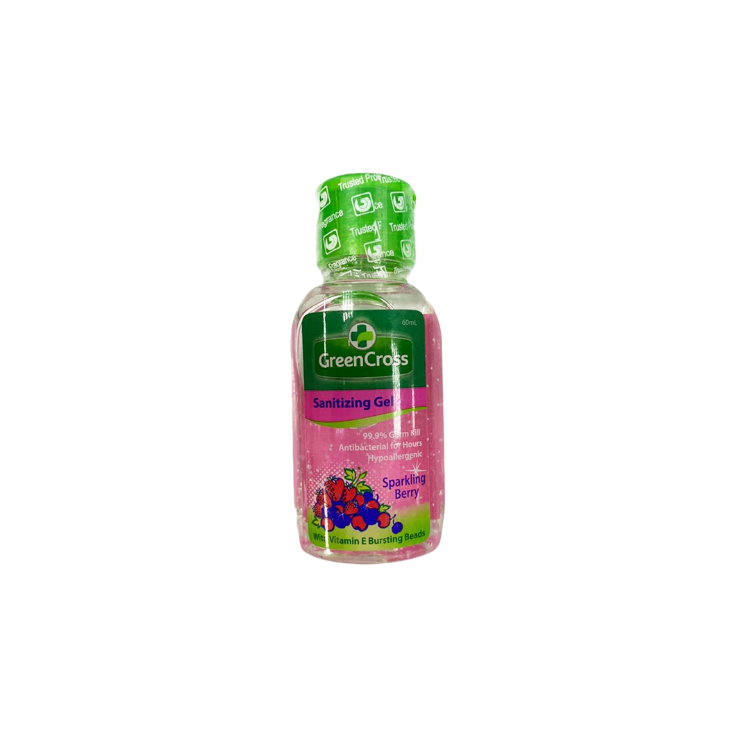 Green Cross Sanitizing Gel with Sparkling Berry 60ml
