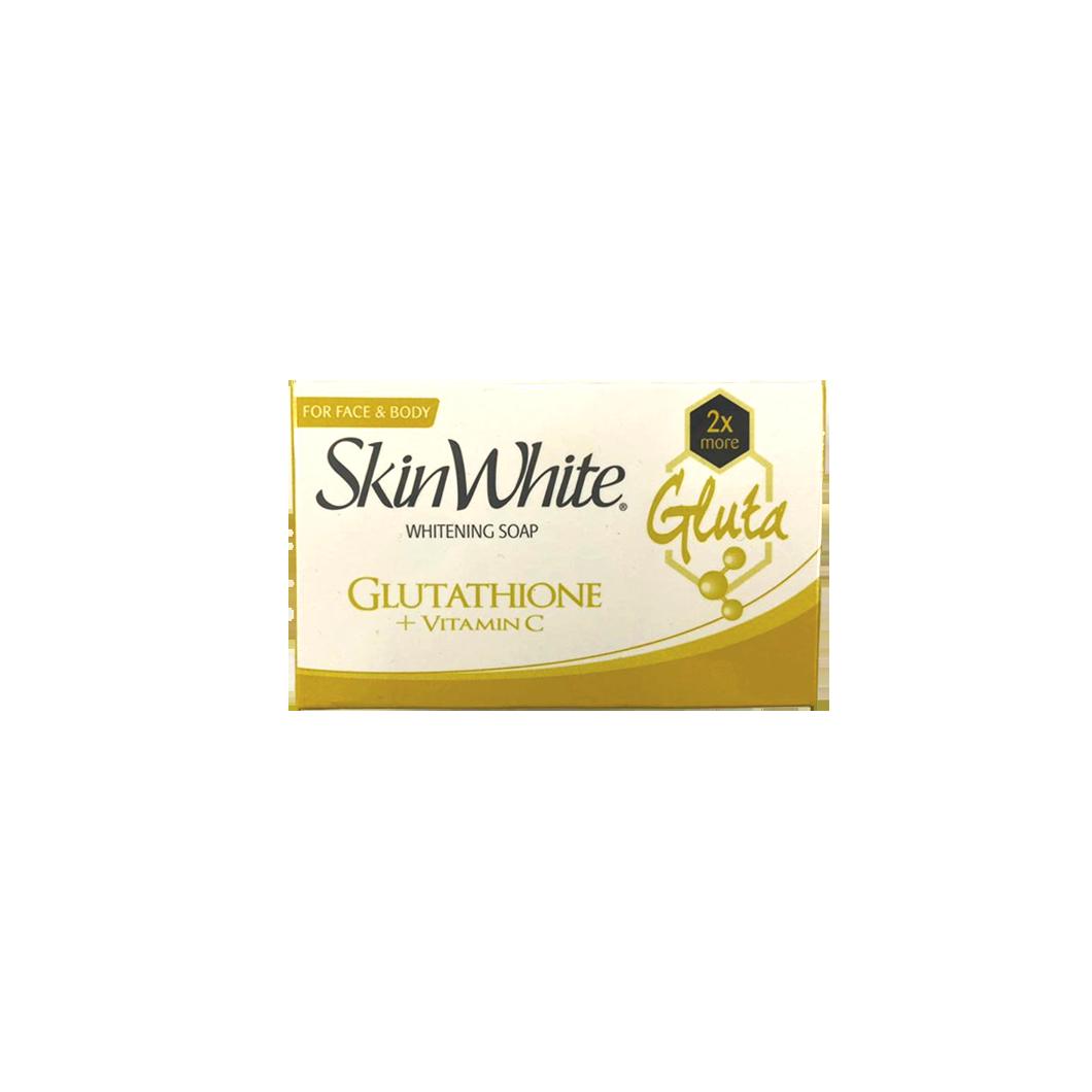 Skin White Whitening Soap Gluthathione + Vitamin C SPF20