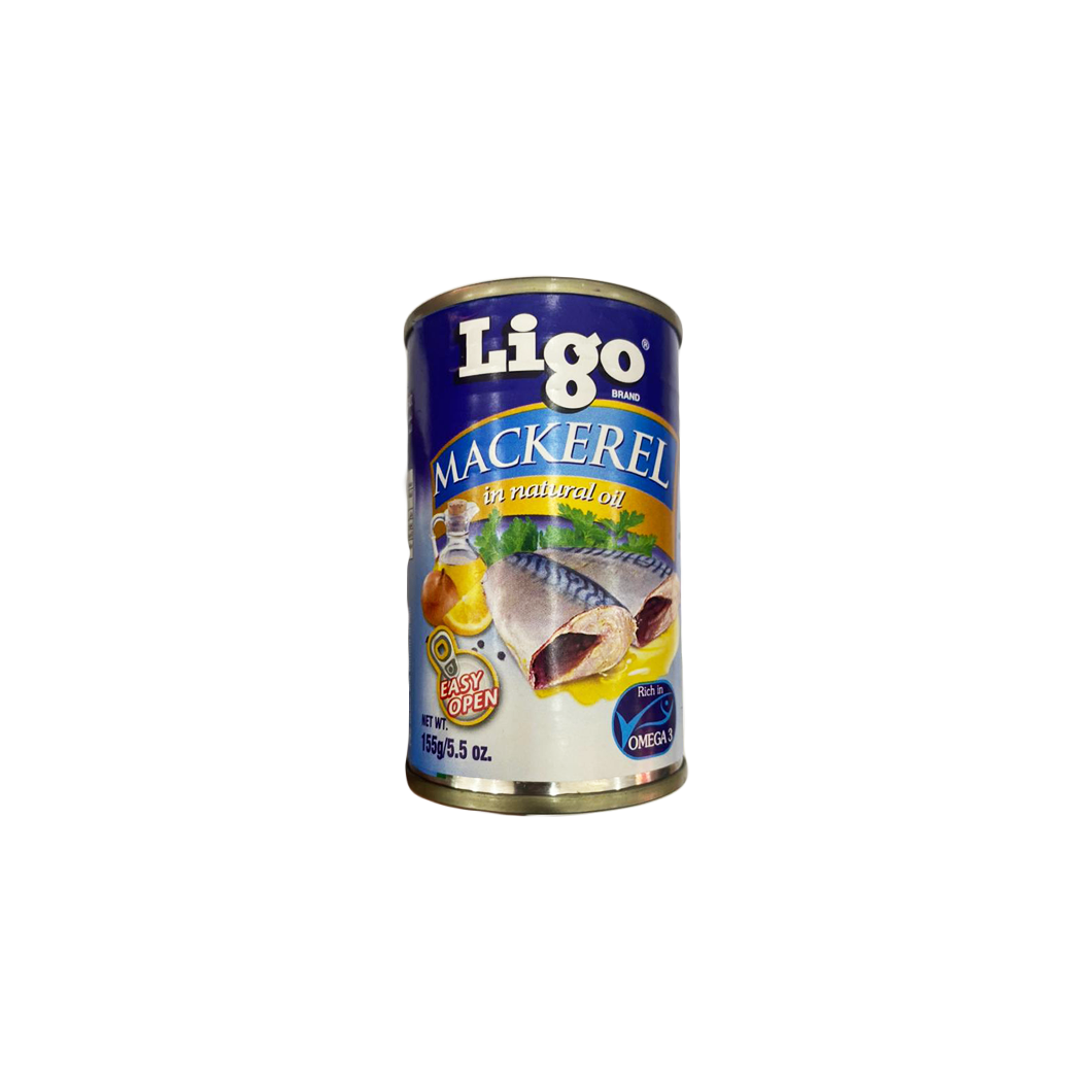 Ligo Mackerel in Natural Oil 155g