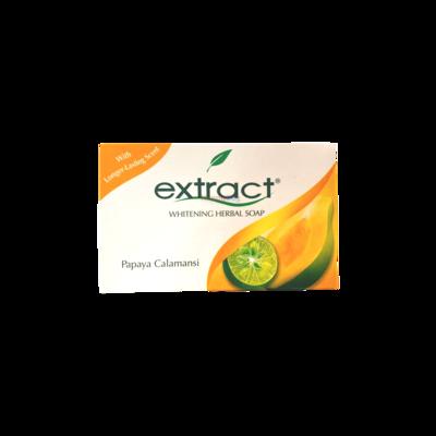 Extract Whitening Herbal Soap Papaya Calamansi125g