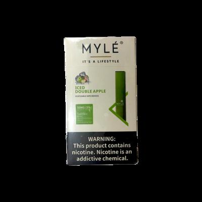 Vape Device - Myle Disposable Vape Iced Double Apple (3pcs)