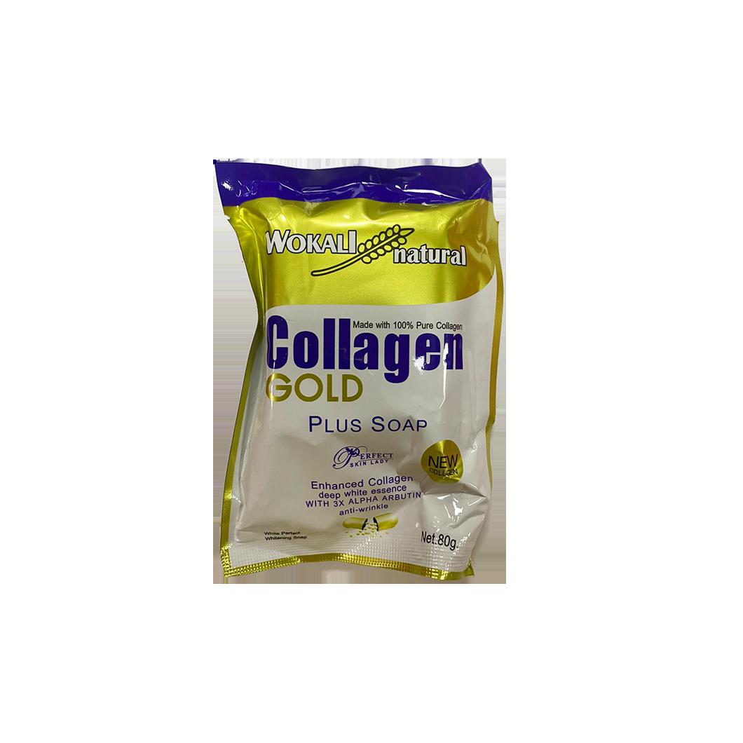 Wokali Natural Collagen Gold Plus Soap 80g