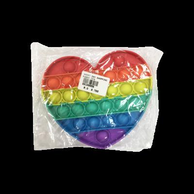 Fidget Toy - Heart Rainbow