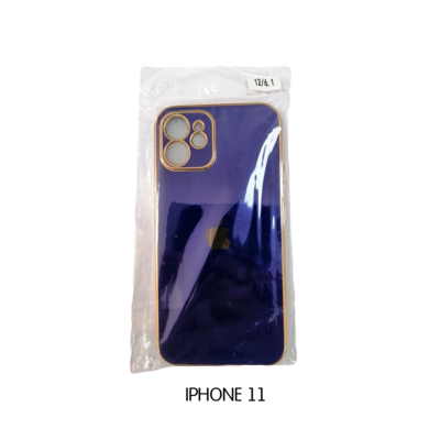 Iphone Case 11 - Violet with Gold Lining