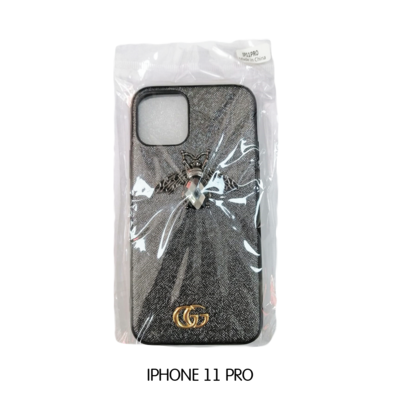 Iphone Case 11 Pro - Black Gucci With Bee