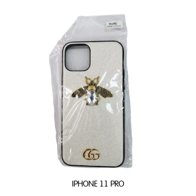 Iphone Case 11 Pro - White Gucci With Bee