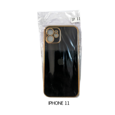 Iphone Case 11 - Black with Gold Lining