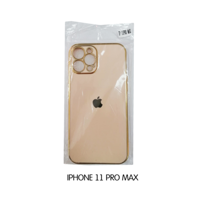 Iphone Case 11 Pro - Beige with Gold Lining