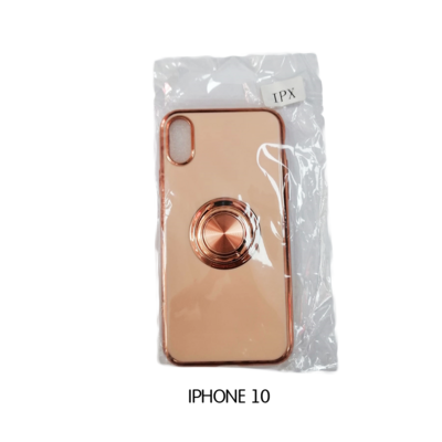 Iphone Case 10 - Peach with Rosegold Lining