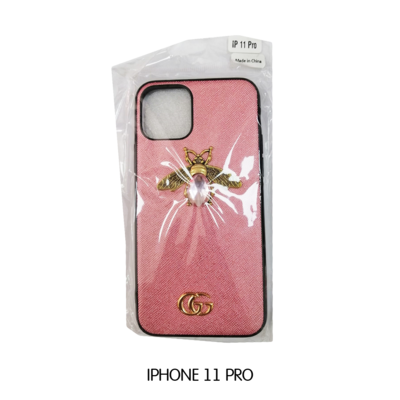 Iphone Case 11 Pro - Pink Gucci With Bee