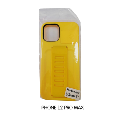 Iphone Case 12 Pro - Yellow With Phone Holder