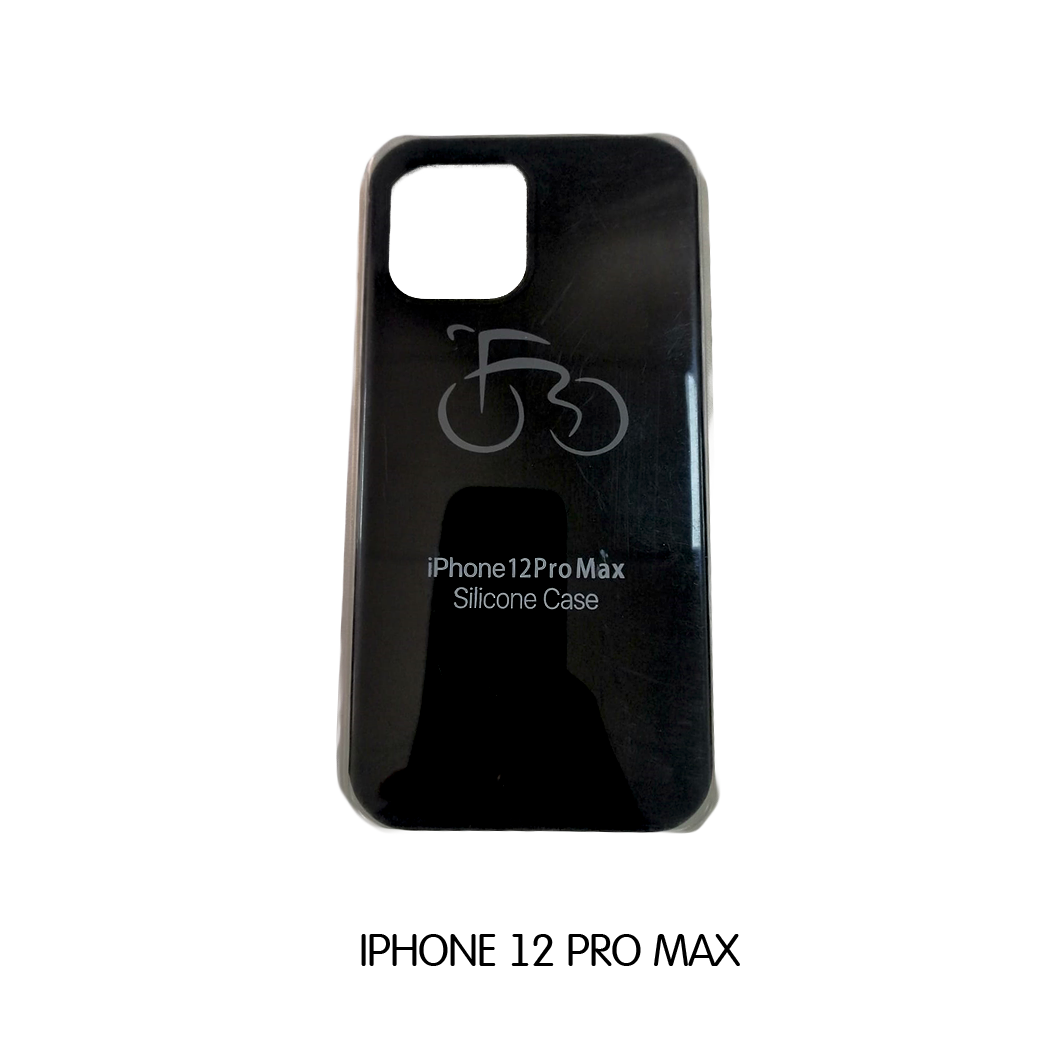 Iphone Case 12 Pro Max - Black with Bicycle