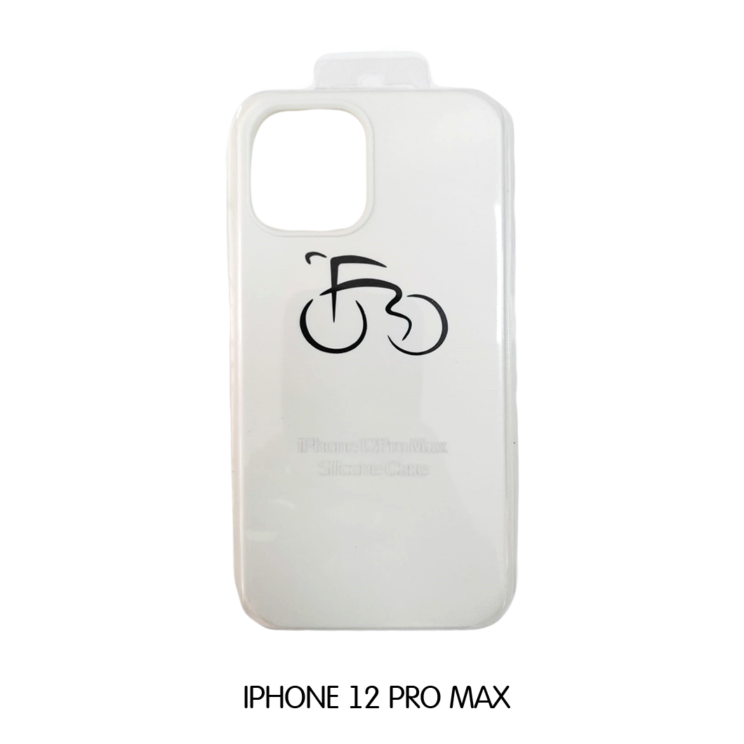 Iphone Case 12 Pro Max - White with Bicycle
