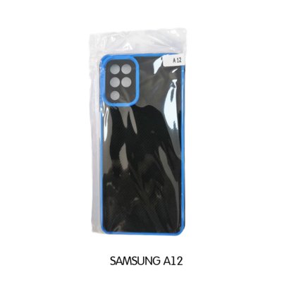 Samsung Case - A12 - Black with Blue Lining