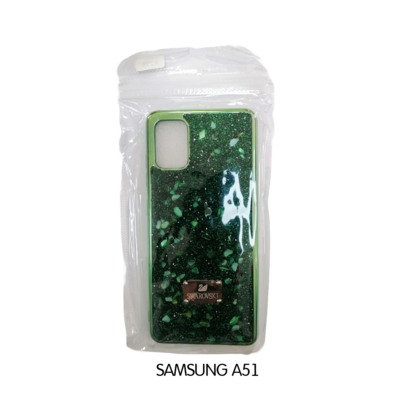 Samsung Case - A51 - Green Swarovski