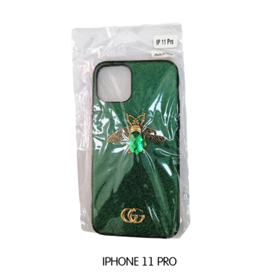 Iphone Case 11 Pro - Green Gucci With Bee
