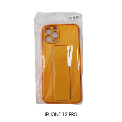 Iphone Case 12 Pro - Yellow with Gold Lining